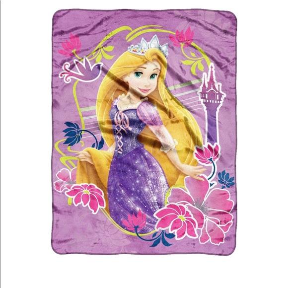 Disney Other Princess Rapunzel Tangled Throw Blanket Poshmark Awesome Rapunzel Throw Blanket